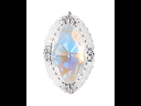 How to Bead Bezell Swarovski Marquise Crystal Pendant Jewellery Kit by Kleshna