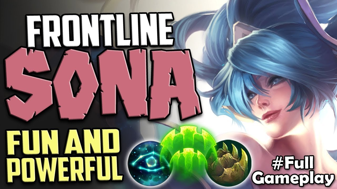FRONTLINE SONA BUILD FUN AND POWERFUL | LIMITLESS POTENTIAL | Sona vs Bard  SUP | S8 Ranked Gameplay