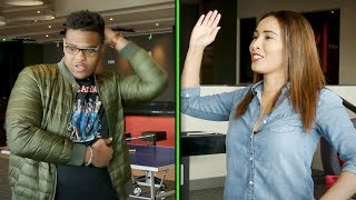 Top NFL Prospect Orlando Brown Teaches Britt How to Milly Rock in a Game of Charades | Press Pass