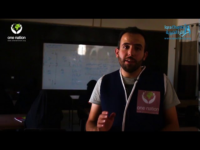 Educational courses at the One Nation village in Syria