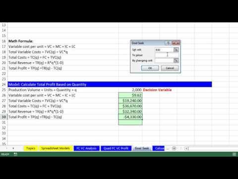 how to find goal seek in microsoft excel 2007