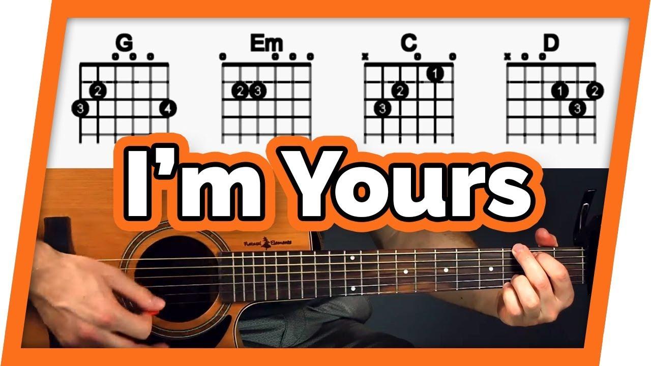 I'm Yours Guitar Tutorial Jason Mraz Easy Chords Guitar Lesson