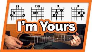 I'm Yours Guitar Tutorial (Jason Mraz) Easy Chords Guitar Lesson