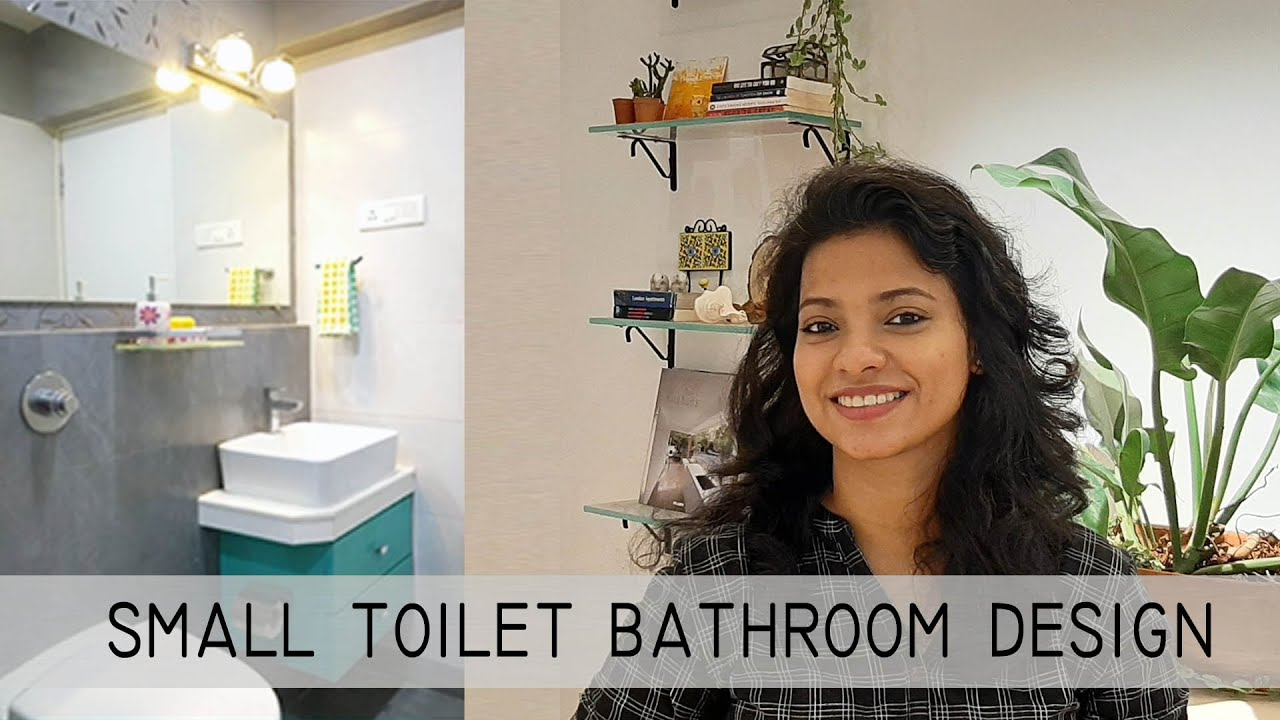 Small toilet bathroom design ideas India with detail dimension drawing.  Toilet plan design in Hindi