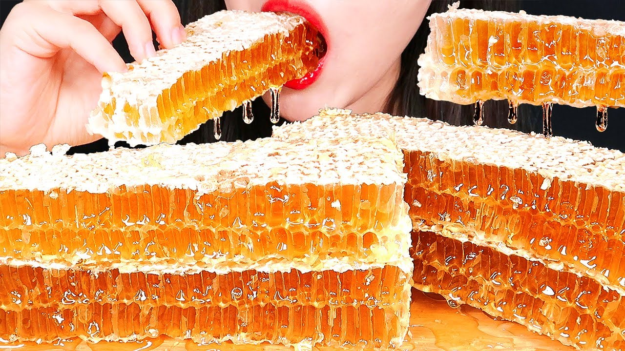 ASMR RAW HONEYCOMB COMPILATION 벌집꿀 먹방 咀嚼音 蜂の巣 ハニカム EATING SOUNDS MUKBANG