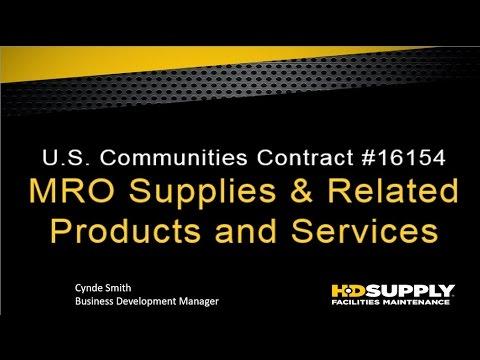 New Contract Webinar: MRO with HD Supply Facilities Maintenance
