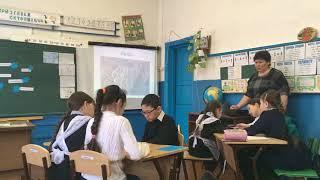 фрагмент урока по татарскому языку и литературе(развитие речи) Тема