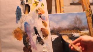 Алла Белопесоцкая видеоурок пейзаж маслом (пилотный выпуск рисуем просто)