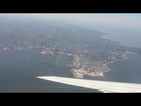 Beautiful landing in Montevideo, Uruguay