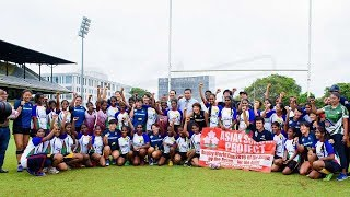 Rugby training camp by Japanese Women