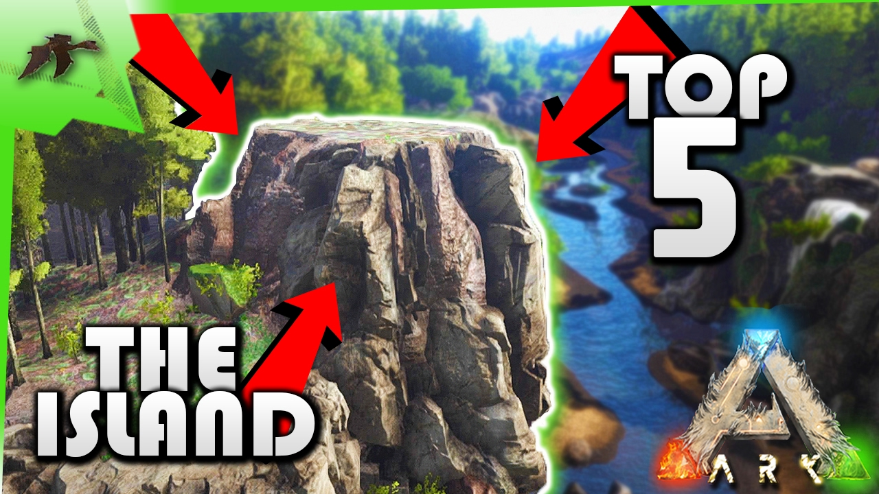 Ark Island Map Base Locations