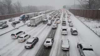 Winter storm brings I-85 traffic to a crawl