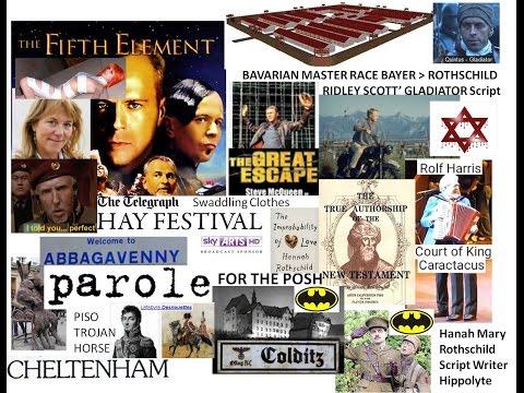 Gt Escape Rd to Rome Colditz Cheltenham Hay Piso Book Fest CirenC WW2 Pilgrims Profits