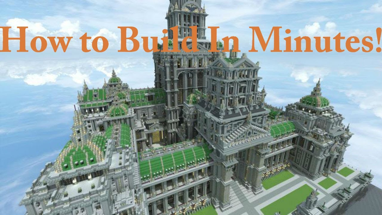 Minecraft how to build big epic creations within minutes for How to start building a house