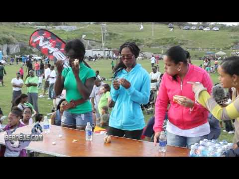 Hot Dog Eating Competition Females St. David's Gilbert Lamb Day Good Friday Bermuda April 22 2011