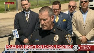 Dixon, Illinois police hail officer who confronted school gunman