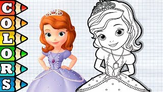 Cute Sofia The First coloring pages best cartoon for Kids