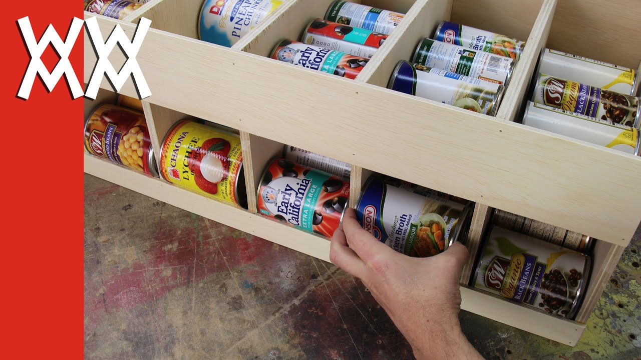 Make A Canned Food Dispenser Get Organized Youtube