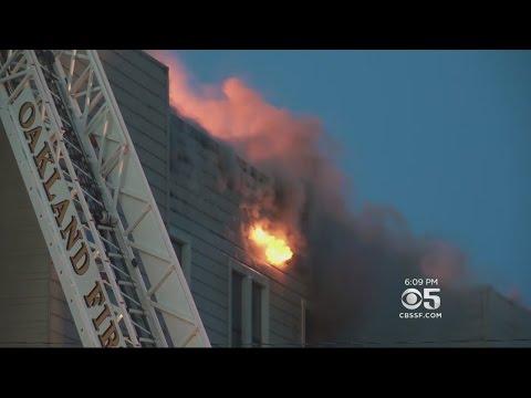 3 Dead In Huge Fire At Oakland Apartment Building, 1 Still Missing