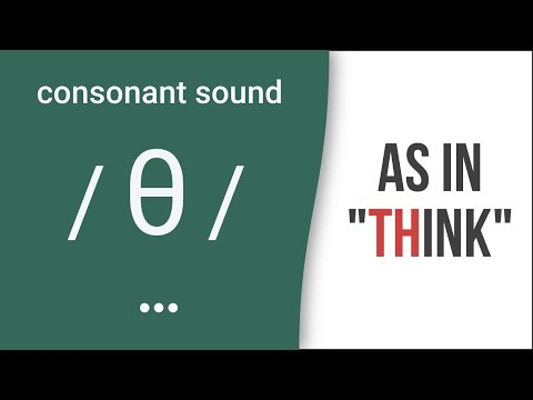 "'TH': Consonant Sound /θ/ as in ""think""- American English Pronunciation"