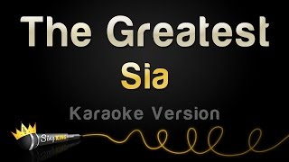Sia The Greatest Karaoke Version.mp3