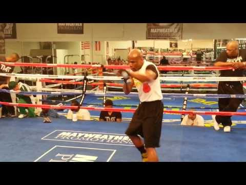 Training at the Mayweather Boxing Club