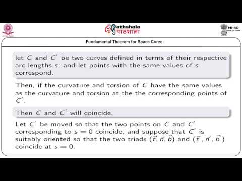 Geometry of space curve: fundamental theorem for space curve (MAT)