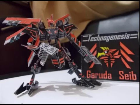 Papercraft Making of paper model - Garuda Seib