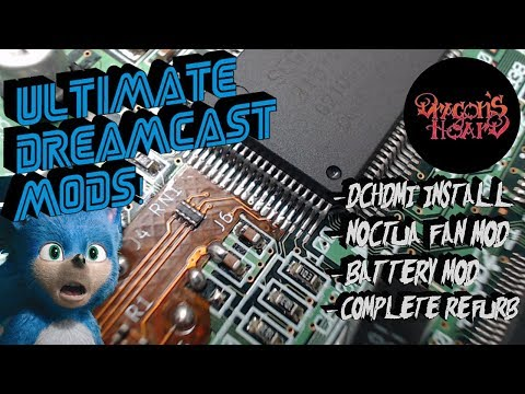 Unbelievable Mods For The SEGA DreamCast! DCHDMI Install + More! 1080p