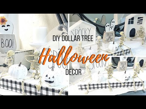 DIY DOLLAR TREE NEUTRAL HALLOWEEN DECOR