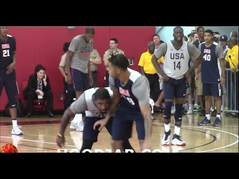 Kyrie Irving,Kevin Durant,Carmelo Anthony,Draymon Green USA Basketball Scrimmage Day 3.HoopJab