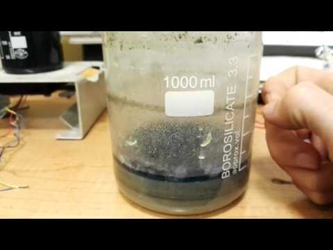 How to extract gold dust from sand.