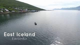 Kayaking in the  beautiful fjord Eskifjordur, East Iceland
