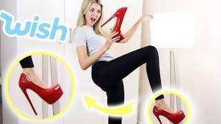 1 Tag lang die höchsten Schuhe von Wish tragen | XLAETA