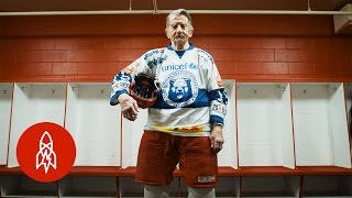 Meet the World's Oldest Hockey Player