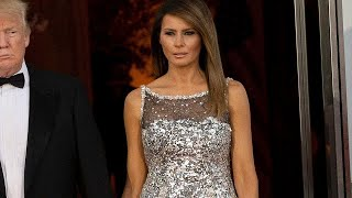 Melania Trump Wears Chanel to State Dinner