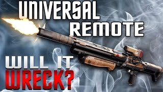 WILL IT WRECK???? 6 Universal Remotes ONLY In Clash!! (Funny Destiny Gun Challenge Gameplay)