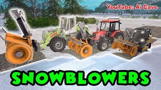 Testing New Snow Blowers - Farming Simulator 2017 Mods