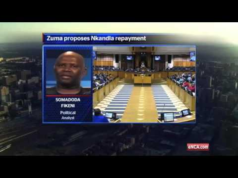 Zuma proposes Nkandla repayment