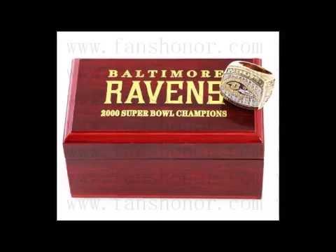 Custom NFL 2000 Super Bowl XXXV Baltimore Ravens Championship Ring