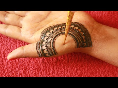 Latest Simple Mehndi Design for Front Hand||Rakhi/Eid 2020 Mehndi Designs||Semi Bridal Mehndi Design