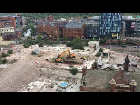 Beginning excavations on Sheffield Castle