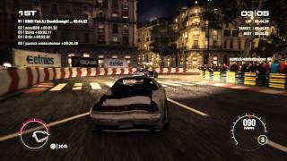GRID 2 PC Multiplayer Time Attack Gameplay: Tier 3 Upgraded Honda NSX R in Paris, Pont De L