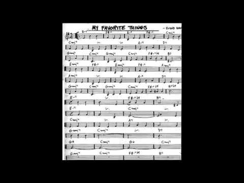 My Favorite Things Play along - Backing track (C  key score violin/guitar/piano)