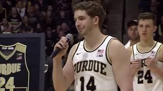 Purdue Basketball Honors Grady Eifert, Ryan Cline on Senior Day   B1G Basketball