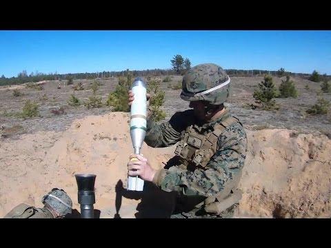 US Marines: Mortars, Machine Guns Live Fire