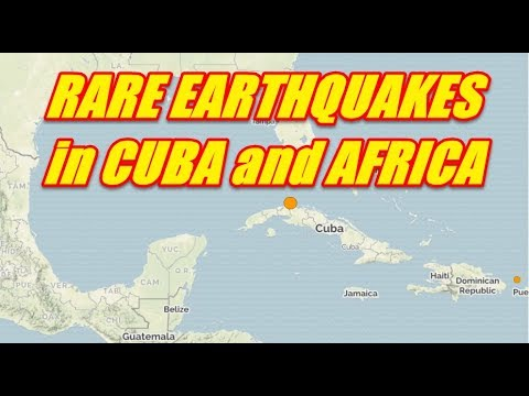 NIBIRU CHANNEL - RARE EARTHQUAKES IN CUBA and AFRICA JULY 30th 2017