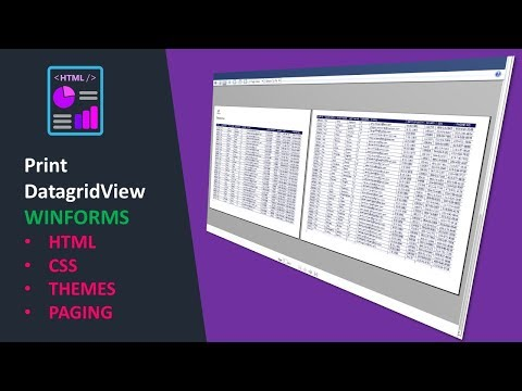 C# VB.NET PRINT DATAGRIDVIEW WINFORMS  (Easy HTML Reports Library)