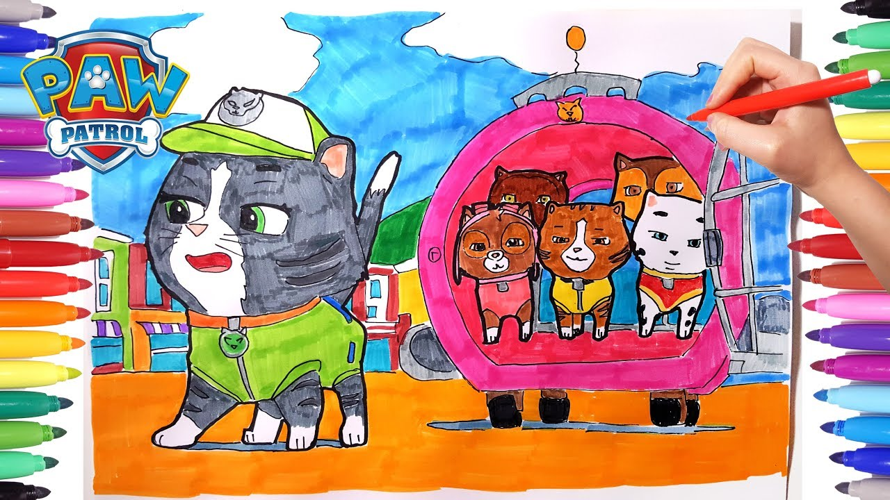 Paw Patrol Coloring Pages For Kids Drawing And Coloring Paw