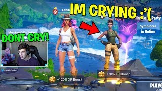 She CRIED when I gifted her TIER 100 BATTLE PASS.. (Fortnite Battle Royale)
